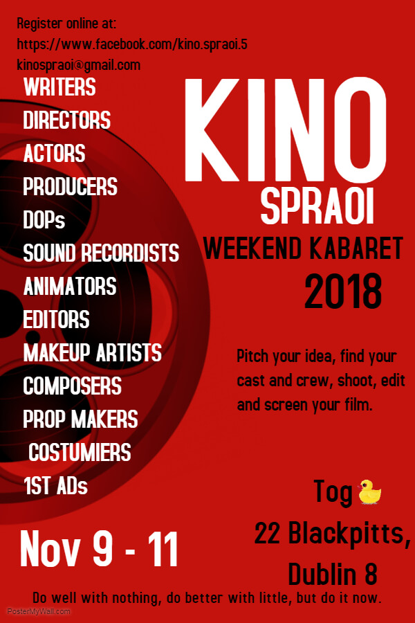 dctv members are invited to join up for   weekend <strong>kino</strong> kabaret.